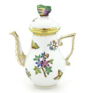 ヘレンド 食器 コーヒーポット(ミニ) ヴィクトリアブーケ装飾バリエーション ハンドメイド|herend-met