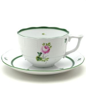 ヘレンド ウィーンの薔薇 手描き 食器 ブレックファーストカップ&ソーサー(large)|herend-met
