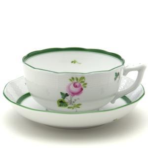 ヘレンド ウィーンの薔薇 手描き 食器 ブレックファーストカップ&ソーサー 磁器製|herend-met
