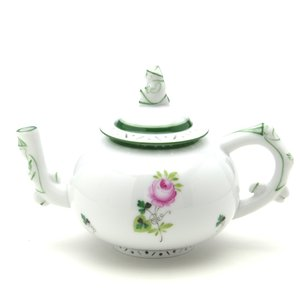 ヘレンド(Herend) ミニティーポット ウィーンの薔薇 ハンドメイド 手描き 透かし彫り 洋食器|herend-met