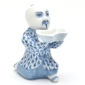ヘレンド 人形 お給仕マンダリン(S) ブルーの鱗模様 ハンドメイド 手描き 磁器 置物 Herend|herend-met