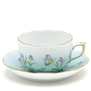 ヘレンド(Herend) ティーカップ 食器 ターコイスブルー地のアイリス 紅茶カップ|herend-met