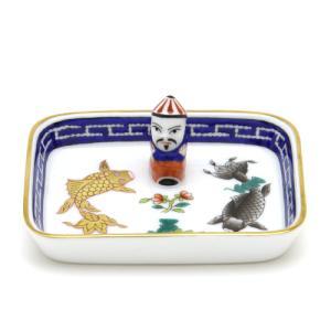 ヘレンド(Herend) ポワッソン 手描き ミニトレイ(長方形) マンダリン飾り 小皿 置物 飾り物 herend-met