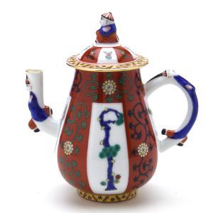 ヘレンド 食器 コーヒーポット(ミニ) 西安の赤 ハンドメイド 透かし彫り シノワズリ Herend|herend-met