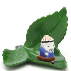 ヘレンド(Herend) カード立て 飾り物 葉の上のマンダリン ハンドメイド 置物 オブジェ herend-met