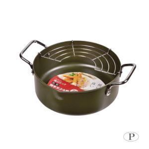 熱伝導率がよく、油なじみのいい鉄製の天ぷら鍋です。 製造国:中国 素材・材質:本体:鉄(シリコーン樹...