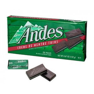 006-051 アンデス チョコレート クリームミント シン 132g(28個入)×12 <メーカー直送又はお取り寄せにつきキャンセル・返品・変更不可> hermo