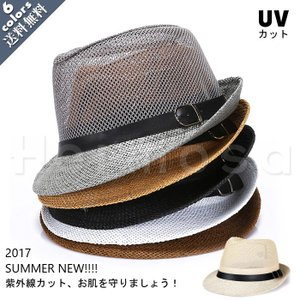 夏新作/麦わら帽子/メンズキャップ/メッシュ/ボーラーハット...