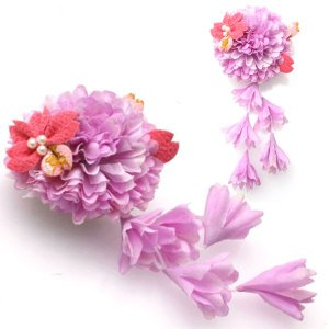 七五三 髪飾り 三歳 七歳 花 赤 ピンク 紫...の詳細画像4