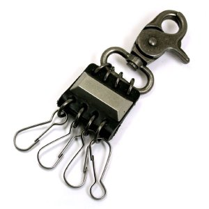 キーリング キーホルダー ブロック 黒M-K026  メンズ...
