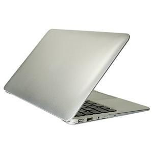 オウルテック MacBook Air 11インチ用 ハードケース メタリックデザイン シルバー
