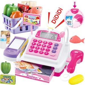 SONiKi レジスターおもちゃ お買い物レジスター お会計 女の子 ピンク heros-shop