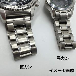 3連 ステンレス 無垢 サイドプッシュ式 腕時計 交換 ベルト 時計バンド バネ棒 付 (09,直カン 16mm)|heros-shop