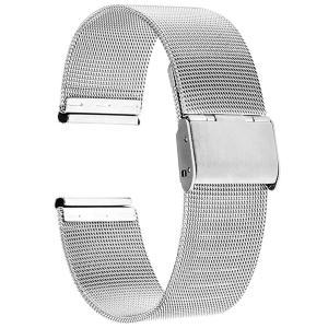 Reinherz 腕時計用ベルト 時計バンド 光沢 防水 ステンレス鋼 スライド式 バックル クラシ...