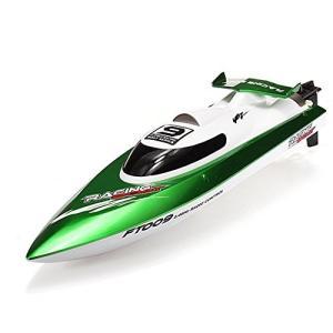 GPTOYS ラジコンボート RCスピードボート 安全ストップ機能付 グリーン