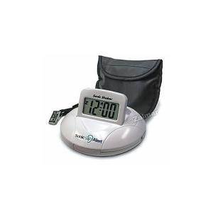 携帯型振動式目覚まし時計 ソニックシェーカー ホワイト 並行輸入品