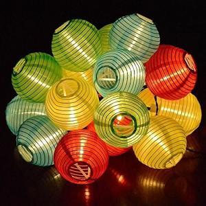 BigFox 燈籠装飾LEDライト 防水IP65 ソーラー発...