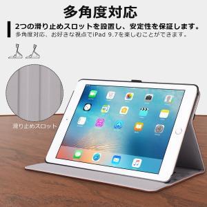 新型iPad 9.7 2018/2017 ケース Ztotop 高級PUレザー製 ペンシル収納 オー...
