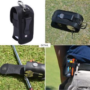 MARITSU ゴルフボールケース ポーチ ボール入れ 2個入れ用 軽量 グリーンフォーク セット PUレザー (ブラック(改訂版))|heros-shop