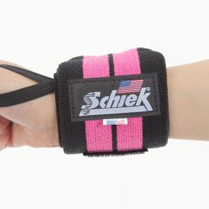Schiek シーク リストラップ 24インチ フリーウェイトトレーニング用 ピンク (国内正規品)