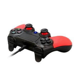 PS4 用コントローラー COOMATEC PS4 対応 振動機能搭載 有線ゲームパッド・ ゲームコ...