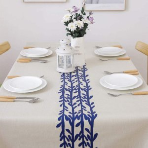 OSVINO テーブルクロス ビニール PVC製 テーブルカバー 北欧風 防水 防油 耐熱 ダイビングテーブル キッチン 拭きやすい 防傷の画像