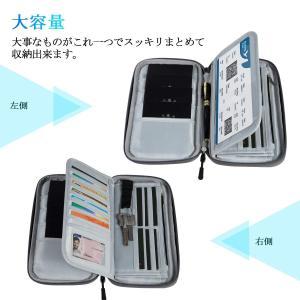 SHINPACK パスポートケース スキミング防止 アコーディオンデザイン 家族 国内海外旅行用品 ...