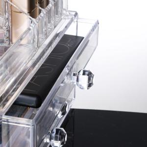 化粧品収納ボックス OBOR(オビオア) 化粧品収納ラック 透明化粧品ケース メイクボックス メイクケース コスメボックス 強い耐久性 整理 heros-shop