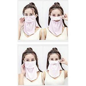 Leecd フェイスカバー 全6色柄 UVカット98% UPF50+ イヤーフック付き 鼻部分開口で呼吸しやすい 息苦しくない 冷感 日焼け|heros-shop