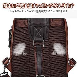 SPAHER(スバヒァ)男かばん 革の袋 リュックサック 男性用iPad使いカバン 胸ポケット ショ...