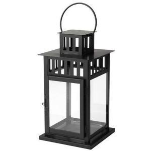 IKEA(イケア) BORRBY 50156112 ブロックキャンドル用ランタン, ブラック|heros-shop