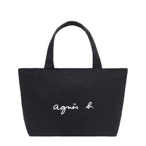agnes b バッグジッパー バッグ ショルダー レディース 大容量 キャンバス アニエスベー トート (ブラック) 並行輸入品|heros-shop
