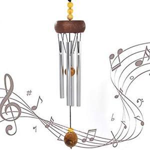 WOAIX ミニ 風鈴 夏の風物詩 ウィンドチャイム 屋内 屋外 涼しい 金属 石 装飾 金運 音色(小) 風鈴 wind chime アル|heros-shop