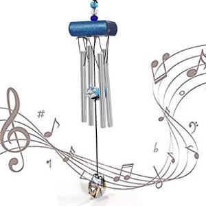 ミニ 風鈴 玄関風鈴 ウィンドチャイム 屋内 屋外 涼しい 金属 石 装飾 金運 音色 小 風鈴 wind chime 海 アルミ 水晶 (|heros-shop