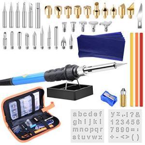 ETEPON ウッドバーニング セット 電熱ペン 110V/60W 温度調節可能200?450℃ 焼...