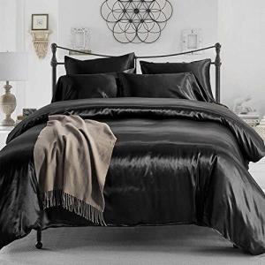 布団カバー3点セット セミダブル 寝具カバーセット レーヨン素材 ツルツル シルクみたい艶と肌触り感 掛け布団カバー ボックスシーツ 2枚枕|heros-shop
