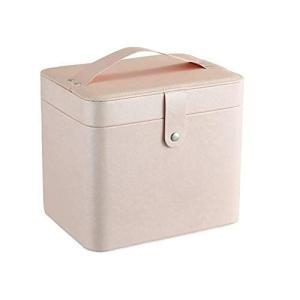 コスメボックス メイクボックス 大容量収納aciiケース メイクブラシ化粧道具 小物入れ 鏡付き 化粧品収納ボックス (ライトピンク)|heros-shop