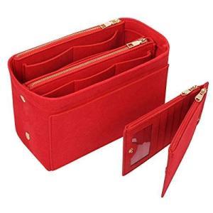APSOONSELL バッグインバッグ フェルト カードケース付き(取り外し可能 仕切りポケット)軽量 自立 バックインバック レディース|heros-shop
