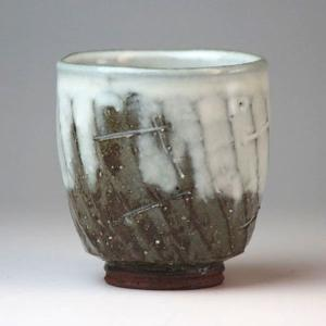 萩焼(はぎやき) 白釉湯呑 小/木箱付|hesaka