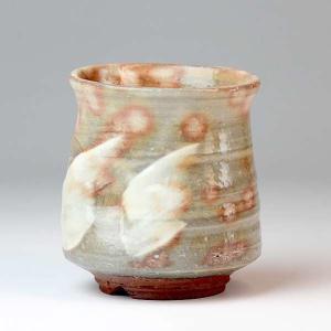 萩焼(はぎやき) 窯炎湯呑/敬三作・木箱付|hesaka