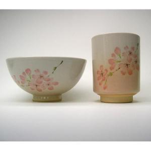 萩焼(はぎやき) お茶の間セット桜セット(飯茶碗・湯呑)/化粧箱付|hesaka