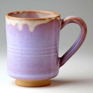 萩焼(はぎやき) 萩むらさきミルクカップ/化粧箱付 hesaka