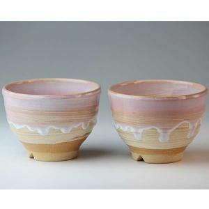 萩焼(はぎやき) 萩の雫碗ペア/化粧箱付|hesaka