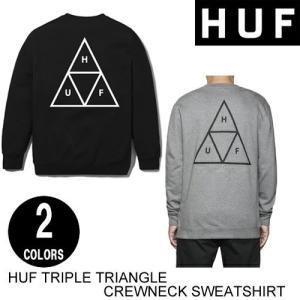 HUF ハフ TRIPLE TRIANGLE CREW 2色 S-L トレーナー 日本代理店正規品