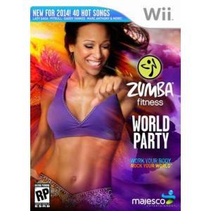[メール便不可] Zumba Fitness World Party - ズンバ フィットネス ワールド パーティー (Wii 海外輸入北米版ゲームソフト) hexagonnystore