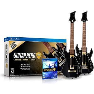 Guitar Hero Live Supreme Party Edition 2 Pack Bundle - ギターヒーロー ライブ シュプリーム パーティー エディション 2パック バンドル (PS4 北米版)|hexagonnystore