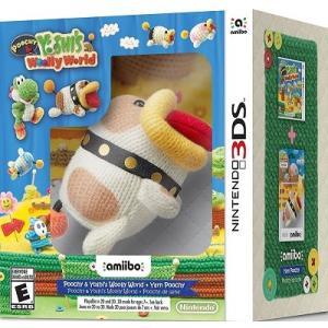 【取り寄せ】 Poochy & Yoshi's Woolly World + Yarn Poochy amiibo - ポチと!ヨッシー ウールワールド ポチ アミーボ (Nintendo 3DS 北米版ゲームソフト)|hexagonnystore