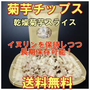 菊芋 国産無農薬 菊芋チップス  チャック付きパック100g入2袋 乾燥スライス 送料無料 得トクセール hey-com-bicchu
