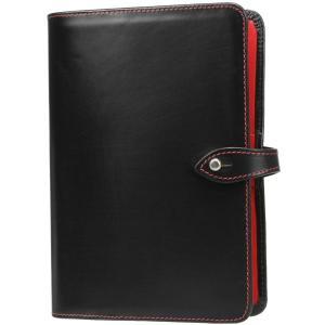 ホワイトハウスコックス システム手帳バイブルサイズ S8753 ブラック・レッド Whitehousecox|hff