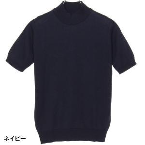 ジョンスメドレー John Smedley 30ゲージ モックタートルネックニットTシャツ S3813 メンズ|hff